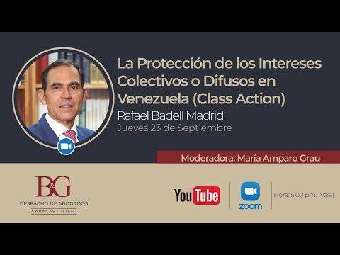 La Protección de los Intereses Colectivos o Difusos en Venezuela (Class Action) Rafael Badell